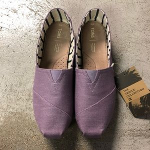 Toms Classic Shoes 11 Womens Canvas Lavender New